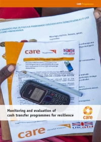 Monitoring and evaluation of cash transfer programmes for resilience