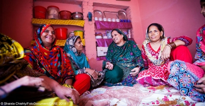 Participants in a Lendwithcare-supported women's empowerment project in Pakistan