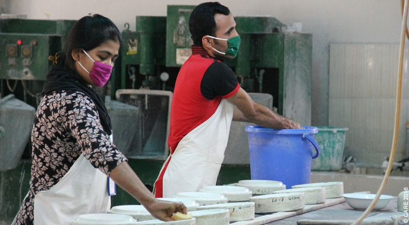 The Living Blue cooperative supported by CARE in Bangladesh (Principle 1: focus on micro, small and medium enterprises and social economy enterprises)