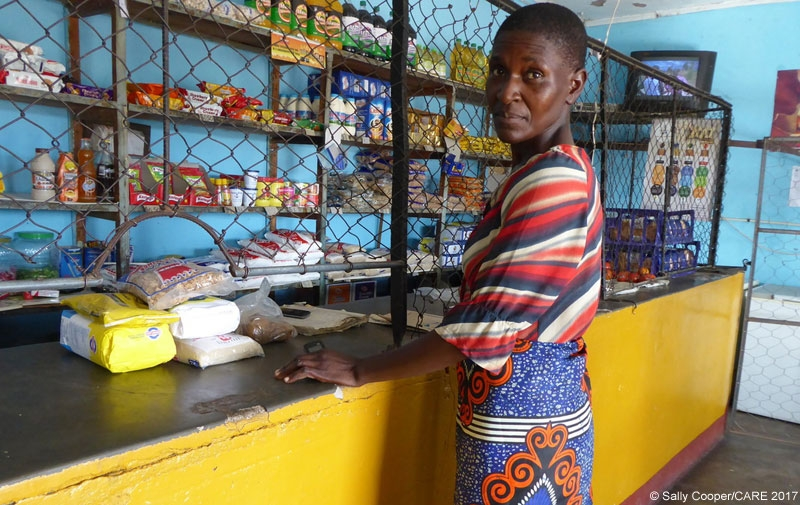 In the midst of a drought and liquidity crisis in Zimbabwe, Letwin Chisorochengwe received cash support to buy food for her family