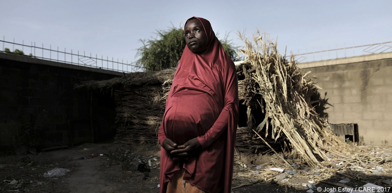 Fatima Abba Bukar fled her home after an attack on her village in Nigeria by Boko Haram