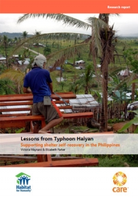 Lessons from Typhoon Haiyan: Supporting shelter self-recovery in the Philippines