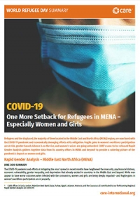 COVID-19: One more setback for refugees in MENA – especially women and girls