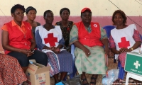 Women responders in a camp for displaced people following floods in Anambra state, Nigeria