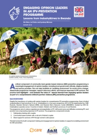 Engaging opinion leaders in an IPV-prevention programme: Lessons from Indashyikirwa in Rwanda - Practice Brief