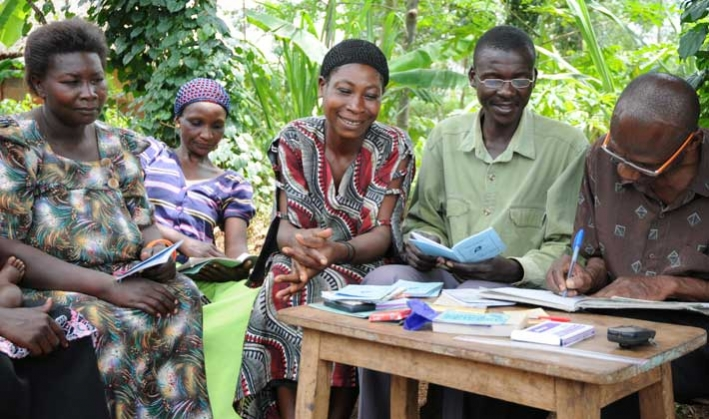 Members of the Dabani Village Savings and Loan Association in Uganda