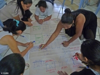 Women at a gender-based violence workshop in Sucumbios