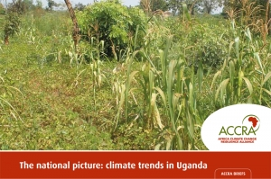 The national picture: climate trends in Uganda