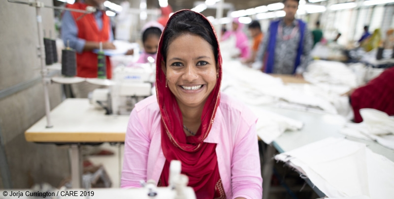 CARE's Made by Women strategy is working towards positive change for women like Lipiya, a Senior Sewing Operator at a garment factory in Bangladesh