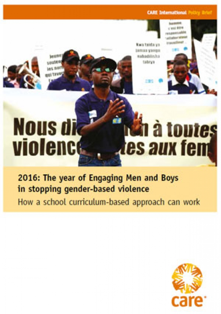 2016: The year of Engaging Men and Boys in stopping gender-based violence