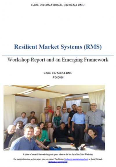 Resilient market systems: Workshop report and an emerging framework