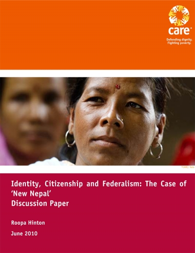 "Identity, Citizenship and Federalism: The case of ""New Nepal"""
