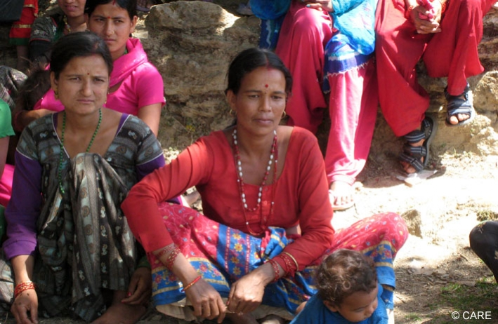 Women in Sanfebagar, Nepal, where the EMPHASIS project runs a drop-in centre