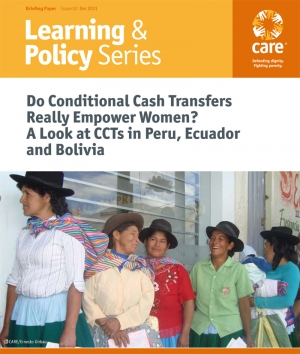 Do Conditional Cash Transfers Really Empower Women? A Look at CCTs in Peru, Ecuador and Bolivia