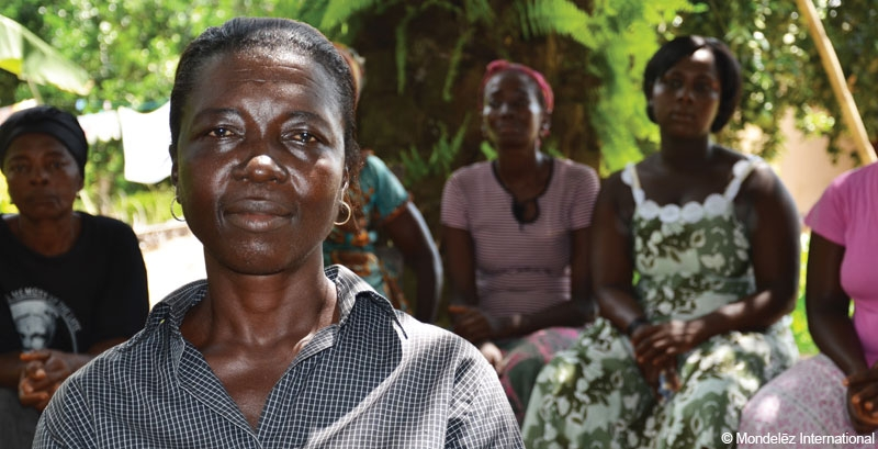 Women's group leader and cocoa farmer Gladys from Ghana