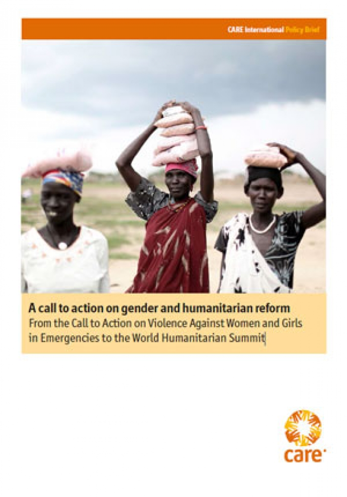 A call to action on gender and humanitarian reform