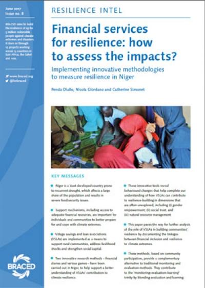 Financial services for resilience: how to assess the impacts?