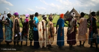 Women queuing at a CARE seed distribution event in Jonglei, one of the areas in South Sudan most affected by the conflict