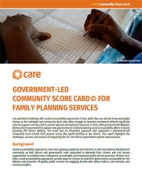Government-led Community Score Card for family planning services