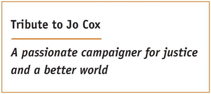 Tribute to Jo Cox: A passionate campaigner for justice and a better world