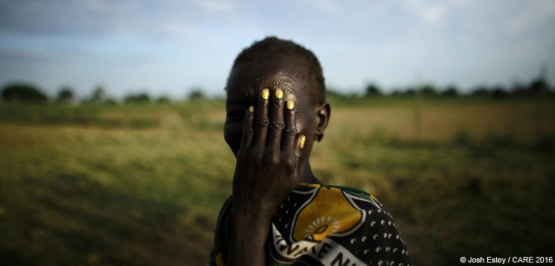 An internally displaced woman in South Sudan