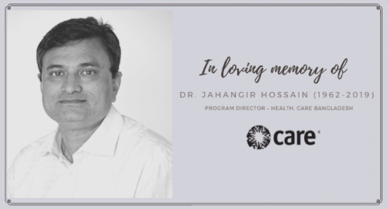 In loving memory of Dr Jahangir Hossain, 1962-2019
