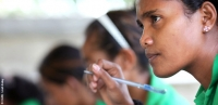 A student at a vocational training centre in Dili, Timor-Leste