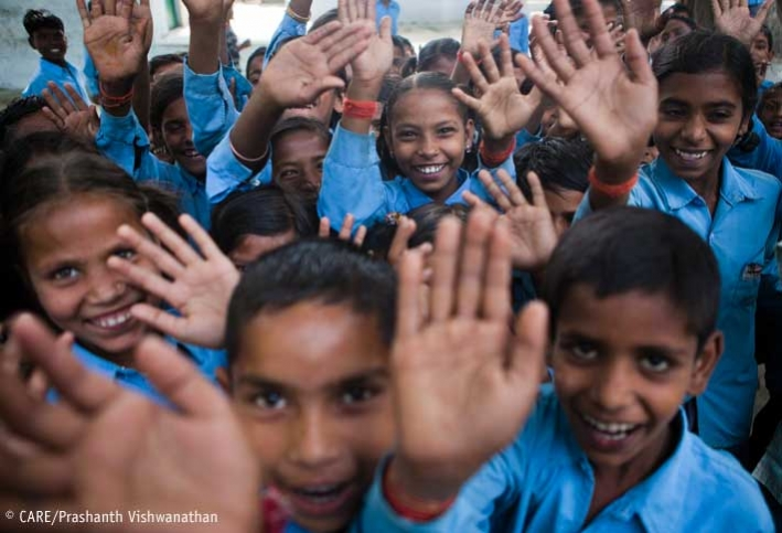 School children in Uttar Pradesh, India