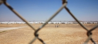 Azraq camp in Jordan is home to over 35,000 Syrian refugees
