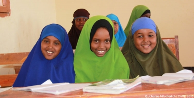 Girls in Somaliland supported by CARE's Girls' Education Challenge programme