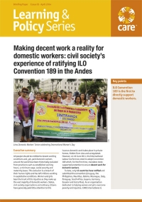 Making decent work a reality for domestic workers: civil society's experience of ratifying ILO Convention 189 in the Andes
