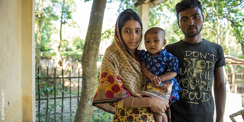 A young family in Bangladesh