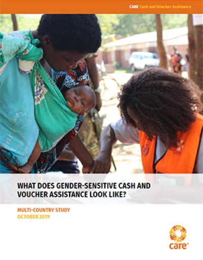 What does gender-sensitive cash and voucher assistance look like?