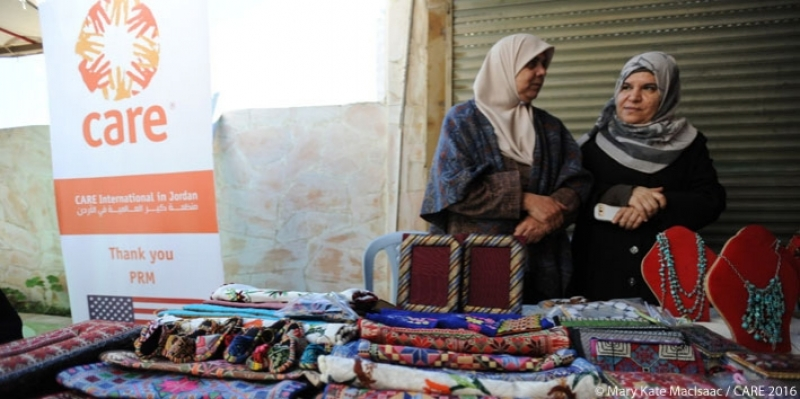 Syrian refugee participants in a CARE vocational training programme in Amman, Jordan
