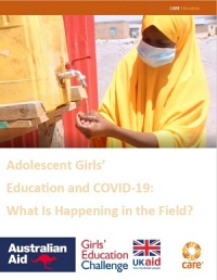 Adolescent girls' education and COVID‐19: What is happening in the field?