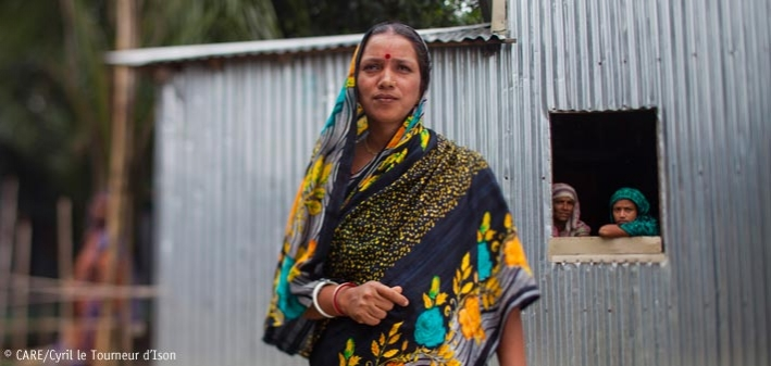 Sumitra, leader of the MUSCHTICHAAL (Handful of rice) group in rural Bangladesh – can attitudes in boardrooms increase the chances of women like Sumitra succeeding in business?