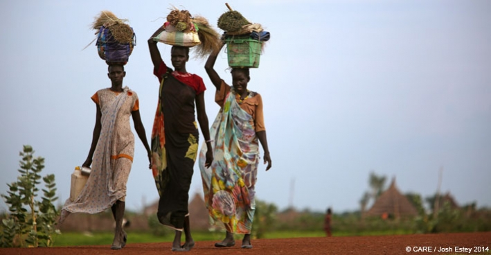Three women in Pariang, South Sudan