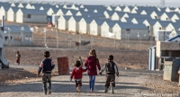 Children at Azraq refugee camp in Jordan