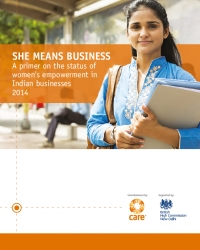 She means business: A primer on the status of women's empowerment in Indian businesses 2014