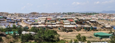 Refugee camp, Cox's Bazar, Bangladesh, inhabited mainly by refugees from Myanmar.