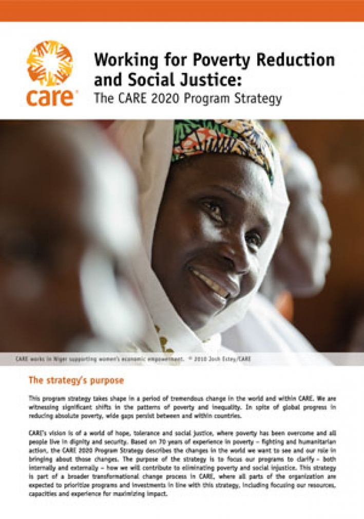 Working for poverty reduction and social justice: The CARE 2020 Program Strategy