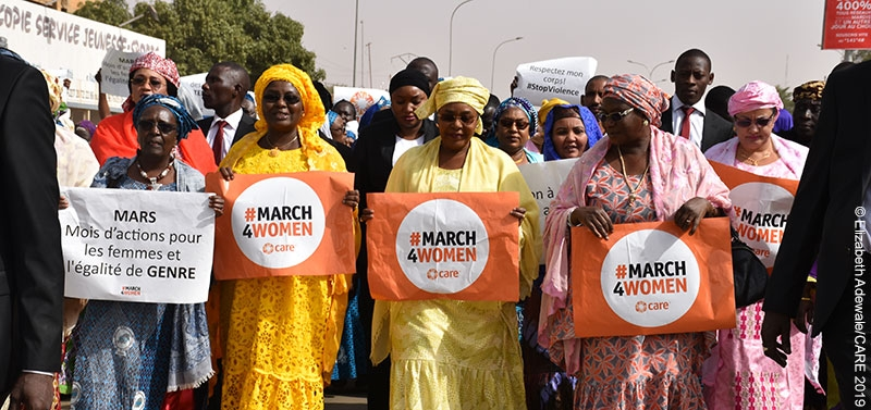 Women on the frontlines of advocacy in Niger (CARE #March4Women campaign, 2019)