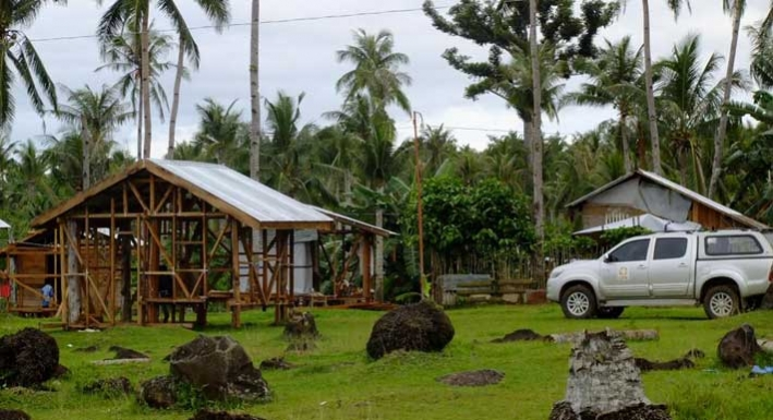 New houses taking shape in remote communities in Leyte, the Philippines