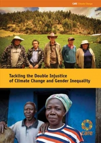 Tackling the double injustice of climate change and gender inequality