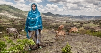 Rehana Ibro near her home in Oromia region, eastern Ethiopia