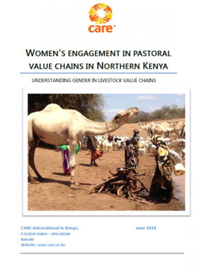 Women and value chains in Kenya cover