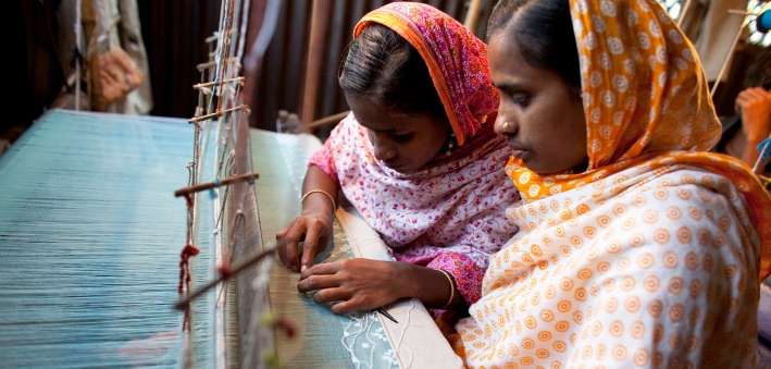 Female textile workers in Bangladesh