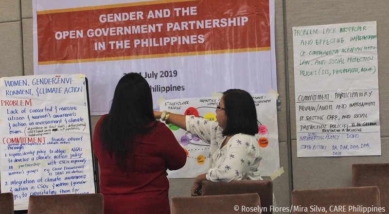 Workshop on Gender and the Open Government Partnership in the Philippines, July 2019