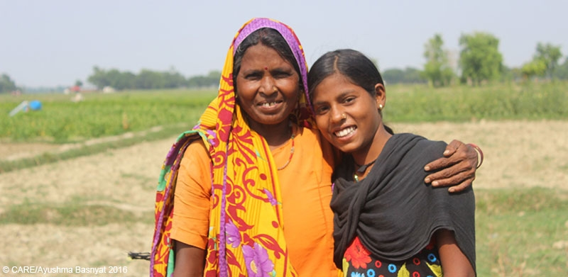 Brindamati, pictured with her mother, was helped to stay in school by the Tipping Point initiative
