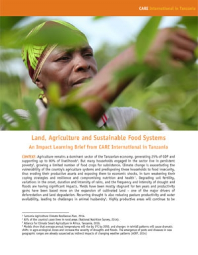 Land, agriculture and sustainable food systems